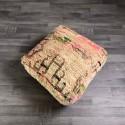 (P004) Stunning Moroccan Cushion Handwoven kilim pouf Beanbag Yoga Meditation Cushion Linen Connections Ottoman Footstool