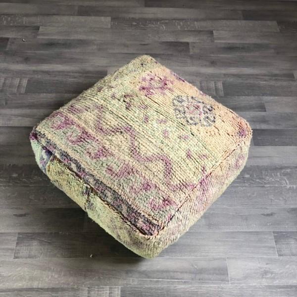Stunning Moroccan Cushion Handwoven kilim pouf Beanbag Yoga Meditation Cushion Linen Connections Ottoman Footstool