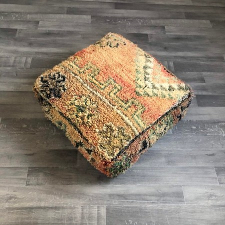 Stunning Moroccan Cushion Handwoven kilim pouf Beanbag Yoga Meditation Cushion Linen Connections Ottoman Footstool