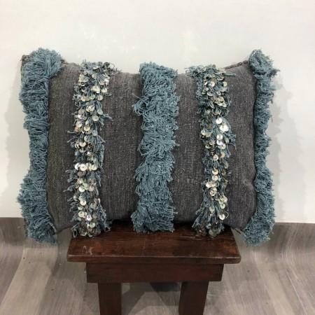 (C002) Stunning Moroccan Cushion Handwoven Handira pillow Beanbag Yoga moroccan cushion, berber pillow, kilim pillow