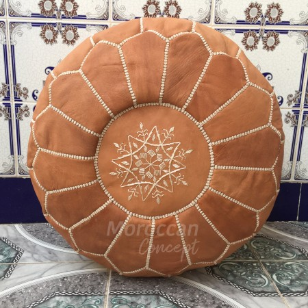 Moroccan leather pouf TB