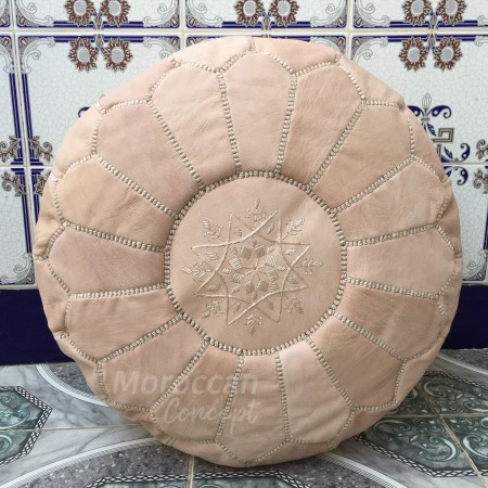 Moroccan leather pouf NR