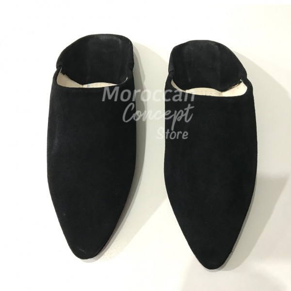 Moroccan leather babouche slippers - suede - Unisex high quality