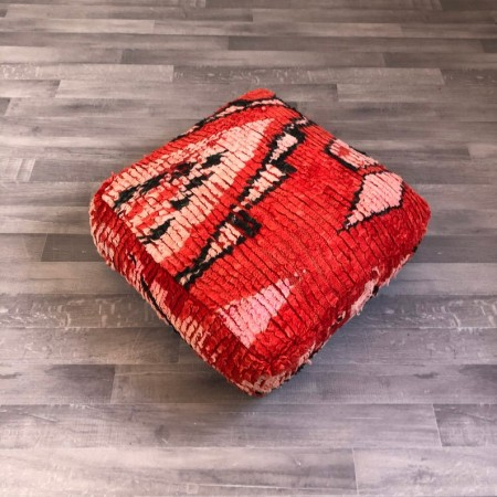 (P002) Stunning Moroccan Cushion Handwoven kilim pouf Beanbag Yoga Meditation Cushion Linen Connections Ottoman Footstool