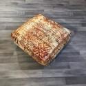 (P005) Stunning Moroccan Cushion Handwoven kilim pouf Beanbag Yoga Meditation Cushion Linen Connections Ottoman Footstool